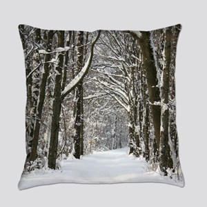 Snow trail Everyday Pillow