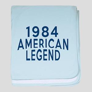 1984 American Legend Birthday Designs baby blanket