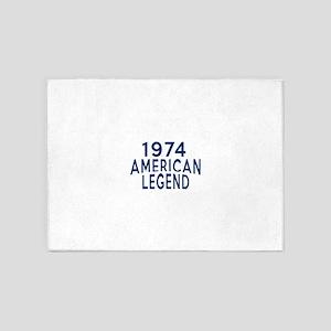 1974 American Legend Birthday Desig 5'x7'Area Rug