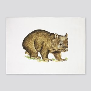 Wombat drawing 5'x7'Area Rug