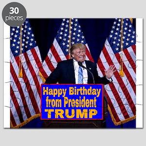 Happy Birthday from President Trump Puzzle