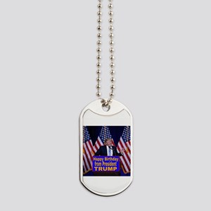 Happy Birthday from President Trump Dog Tags