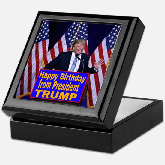 Happy Birthday from President Trump Keepsake Box