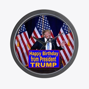 Happy Birthday from President Trump Wall Clock