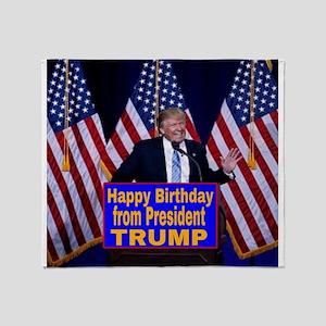 Happy Birthday from President Trump Throw Blanket
