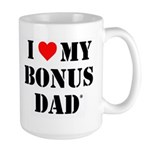 I Love My Bonus Dad Mugs