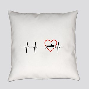 i love swimming Everyday Pillow
