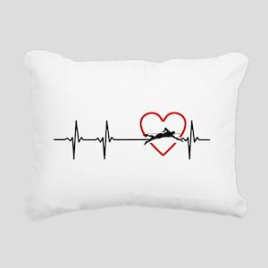 i love swimming Rectangular Canvas Pillow