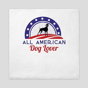 all american dog lover Queen Duvet