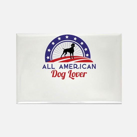 all american dog lover Magnets