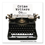 Crime Writers On Podcast Square Car Magnet 3""