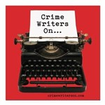 "Crime Writers On... Square Car Magnet 3"" X 3&"