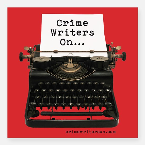 """Crime Writers On... Square Car Magnet 3"""" X 3&"""