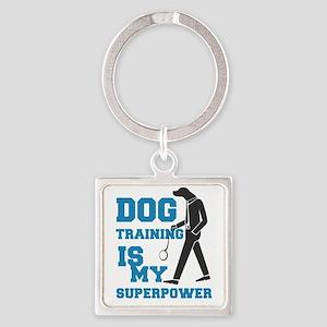 dog training is my supperpower Keychains
