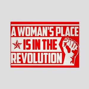 Womans Place in Revolution Rectangle Magnet