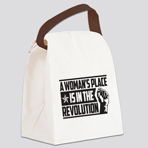 Womans Place in Revolution Canvas Lunch Bag