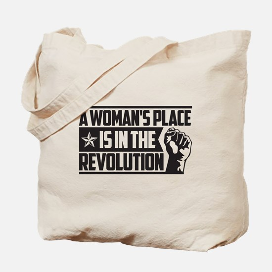 Womans Place in Revolution Tote Bag