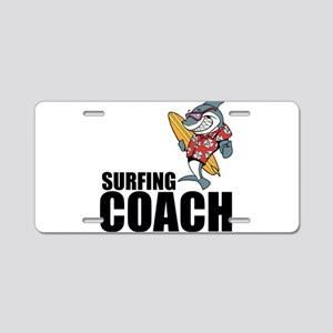 Surfing Coach Aluminum License Plate