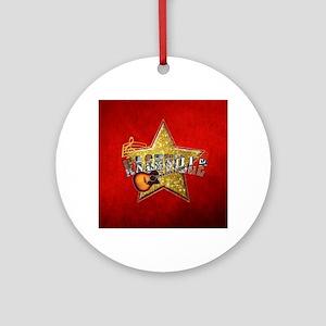 Nashville Star Snowflake-01 Round Ornament