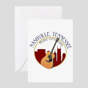 Nashville, TN Music City USA-RD Greeting Cards