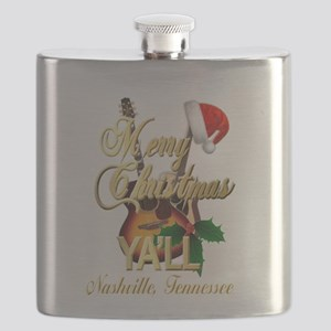 Merry Christmas Ya'll from Nashville, TN Flask