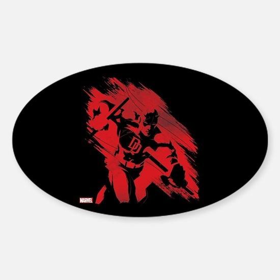 Daredevil Red Streak Sticker (Oval)