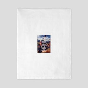 Native ten commandments Twin Duvet