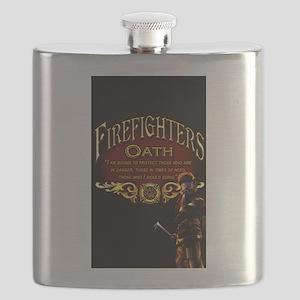 Firefighters Oath Flask