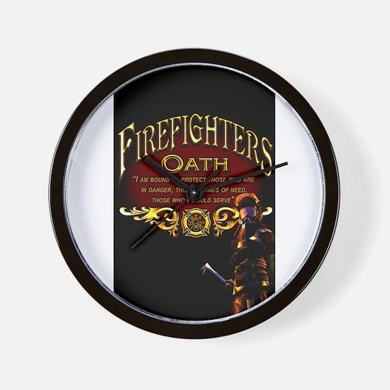 Firefighters Oath Wall Clock