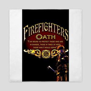 Firefighters Oath Queen Duvet