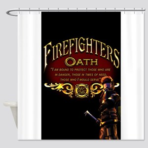 Firefighters Oath Shower Curtain
