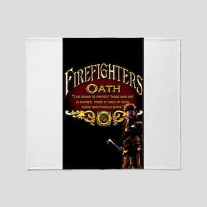 Firefighters Oath Throw Blanket