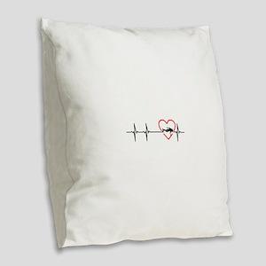 i love scuba diving Burlap Throw Pillow