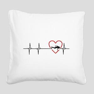 i love scuba diving Square Canvas Pillow