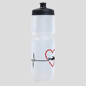 i love scuba diving Sports Bottle