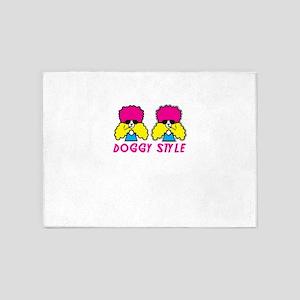 doggy style 5'x7'Area Rug