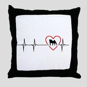 i love pug Throw Pillow