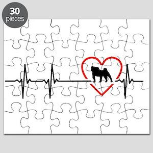 i love pug Puzzle