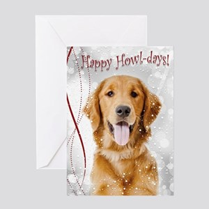 Golden Howl-days Greeting Cards
