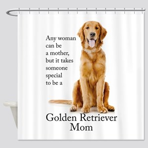 Golden Mom Shower Curtain