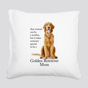 Golden Mom Square Canvas Pillow