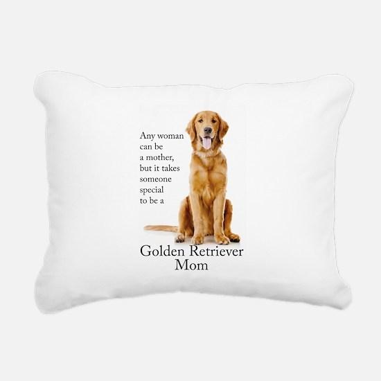 Golden Mom Rectangular Canvas Pillow
