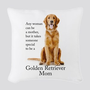 Golden Mom Woven Throw Pillow