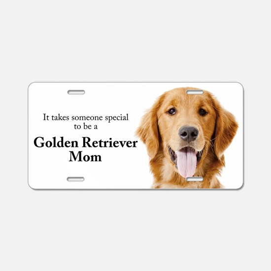 Golden Mom Aluminum License Plate