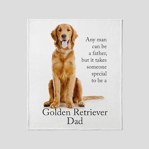 Golden Dad Throw Blanket