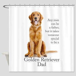 Golden Dad Shower Curtain