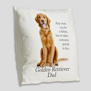 Golden Dad Burlap Throw Pillow