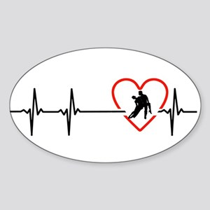 i love ballroom dance Sticker