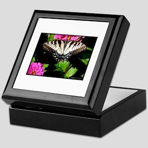 Swallowtail Butterfly And Zinnias Keepsake Box