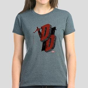 Daredevil Brick Wall Initials Women's Dark T-Shirt